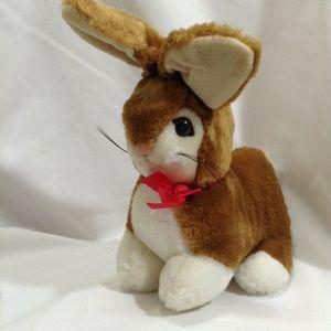 "1985 Old Style Easter 8"" Bunny Rabbit Plush VTG"